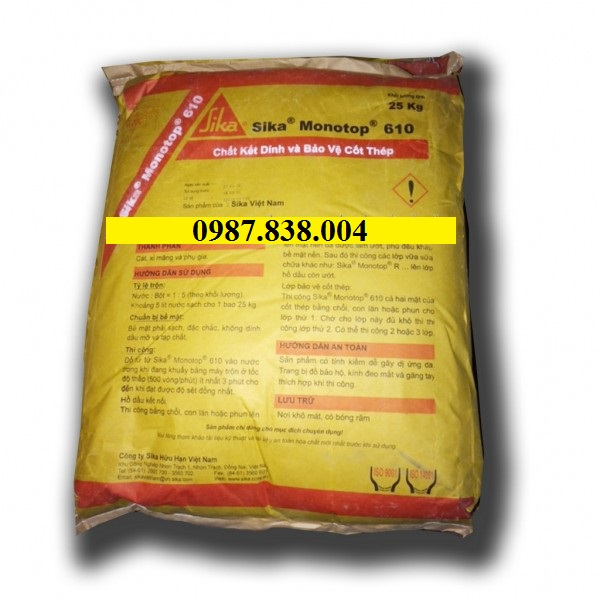 Sika Monotop 610 - Chất kết dính và bảo vệ cốt thép
